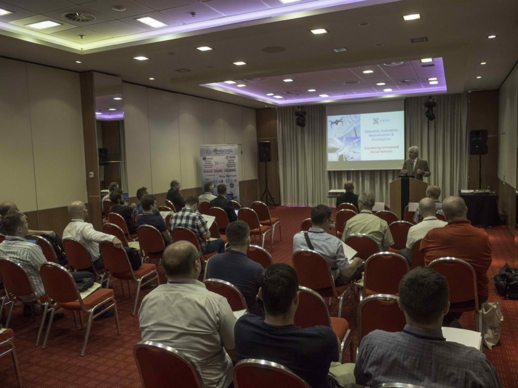 Garik presenting the DeNI Rogue  Drone Training in Croatia